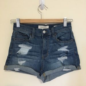 PacSun High Rise Shortie Shorts 25